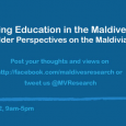 Education Forum: Improving Education in the Maldives: Stakeholder Perspectives on the Maldivian Education Sector