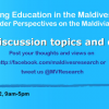 Maldives Research Education Forum: June 2012