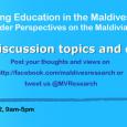 Maldives Research Education Forum: June 2012